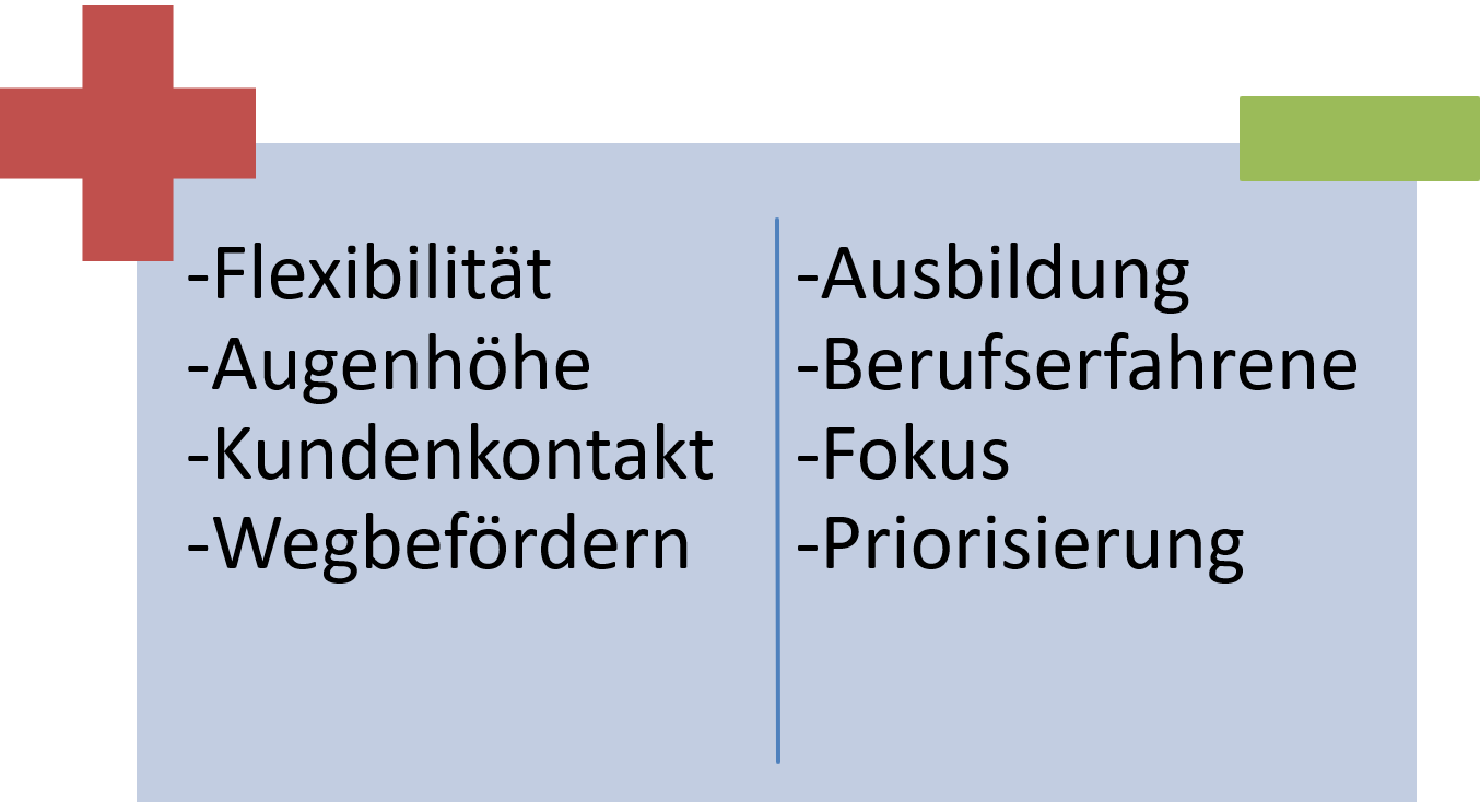 FRITZ - Assoziationsphase - Vorteile und Nachteile