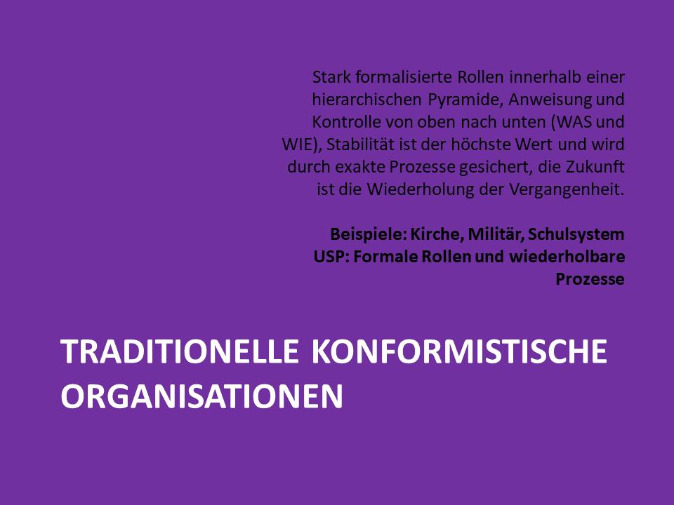 FRITZ - Traditionelle konformistische Organisationen nach Laloux