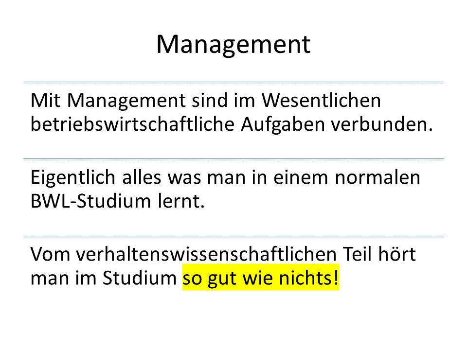 FRITZ - Führung vs Management - Was ist Management?