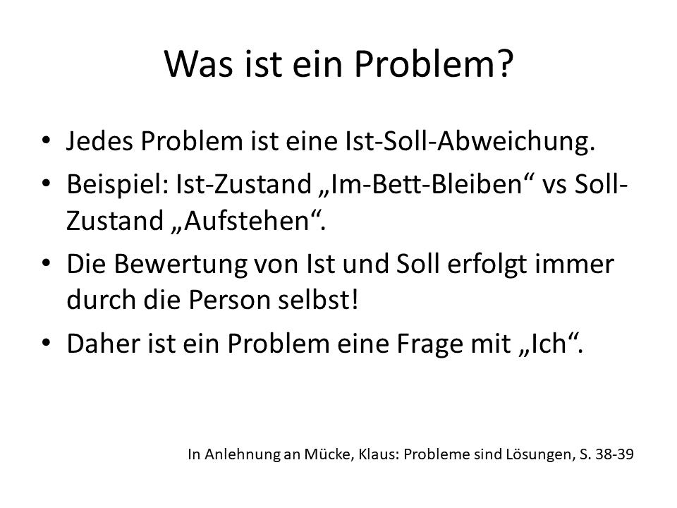 FRITZ - Problemlösung - Was ist ein Problem
